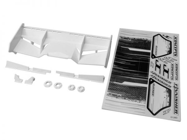 Finnisher – 1/8th buggy / truck wing – white