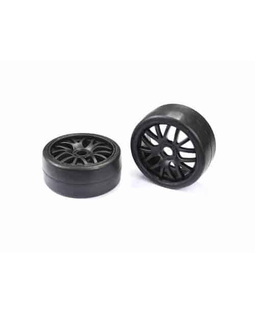 1/8 GT Tire Medium Glued Black (2)