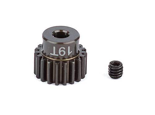 FT Aluminum Pinion Gear, 19T 48P, 1/8 shaft