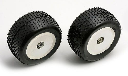 TIRES AND WHEELS MOUNTED, CHROME RIMS: 18-T, 18-MT (2)