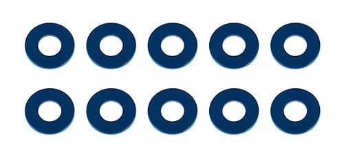 Washers, 7.8×3.5×0.5mm, blue aluminum