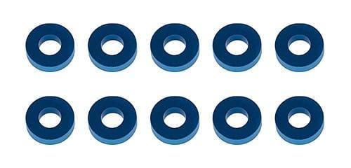 Washers, 7.8×3.5×2.0mm, blue aluminum