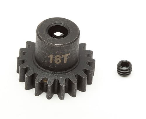 Steel Pinion Gear, 17T, Mod 1, 5mm shaft