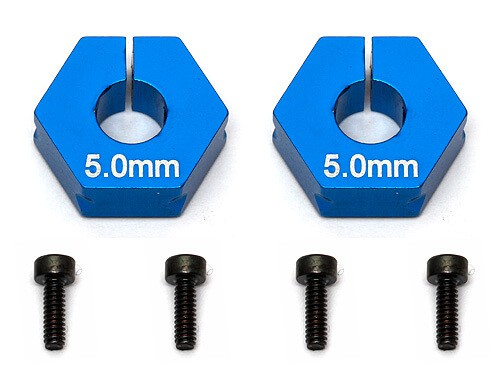 Factory Team Clamping Wheel Hexes, 5.0mm
