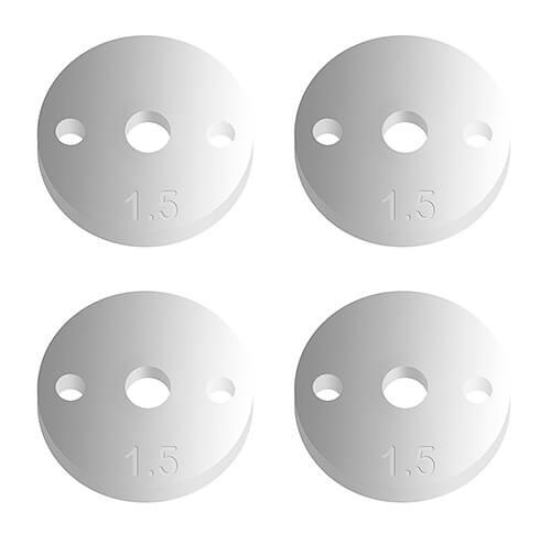 FT 12mm Pistons V2, 2 x 1.5, flat