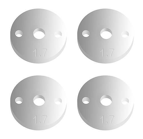 FT 12mm Pistons V2, 2 x 1.7, flat
