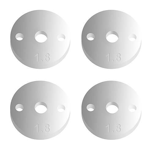 FT 12mm Pistons V2, 2×1.8, flat