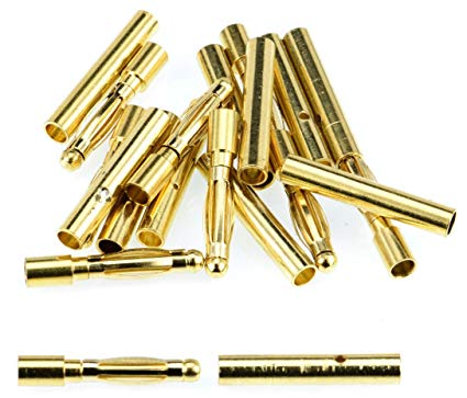 2.0mm Gold Plated Banana Plug Male&Female 5 pair/bag (10pcs)