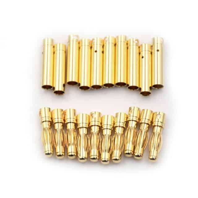 4.0mm Gold Plated Banana Plug Male&Female 5 pair/bag (10pcs)