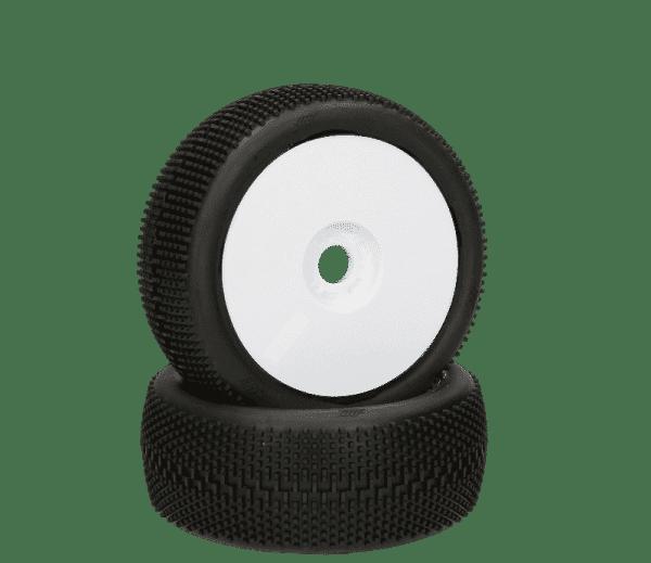 HB RACING HB Megabite Mounted Tire (Red/White Wheel/1:8 Buggy)
