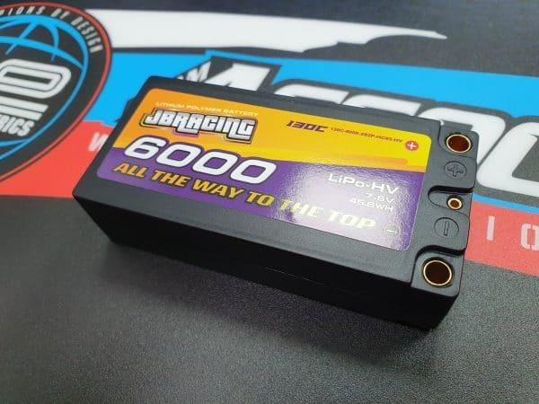 JBRacing LiPO-HV battery 7.6v 6000mah shorty pack 130C