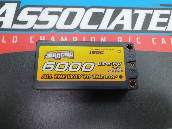 JBRacing LiPO-HV battery 7.6v 6000mah shorty pack 120C