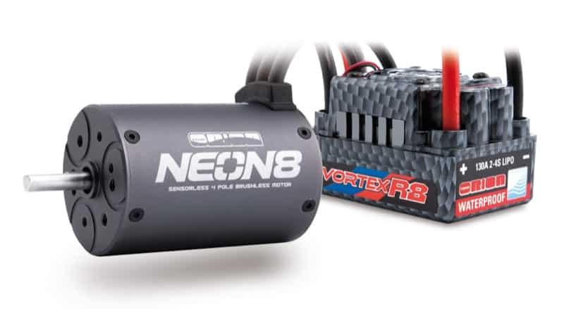 Combo NEON 8 WP(4P/2100kv/5mm shaft/R8 WP 130A ESC)
