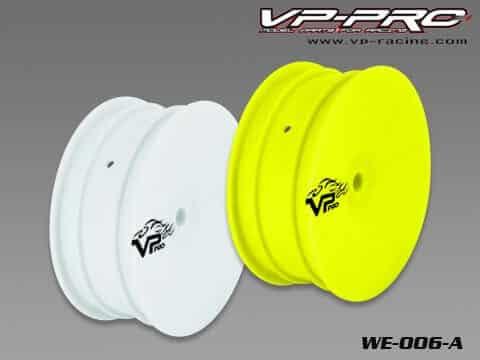 VP PRO 1/10 elec. dish rim(yellow) 12MM Front 2WD – 2 pairs