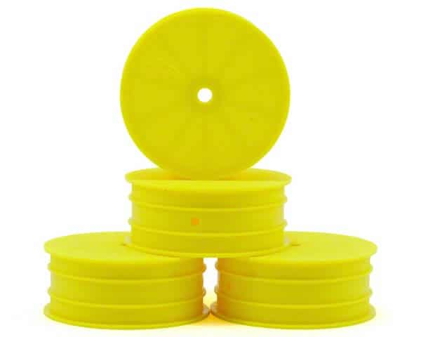 JConcepts Mono 2.2 Hex Front Wheel (4) (TLR 22) (Yellow)