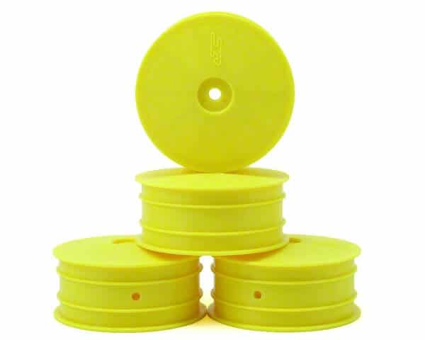 JConcepts Mono 2.2 4wd Front Buggy Wheels (4) (Yellow) – 10mm HEX