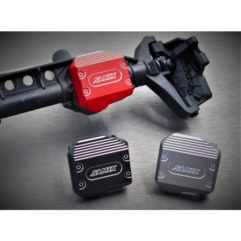 SCX10-3 Adjustable alum. diff. cover BLACK