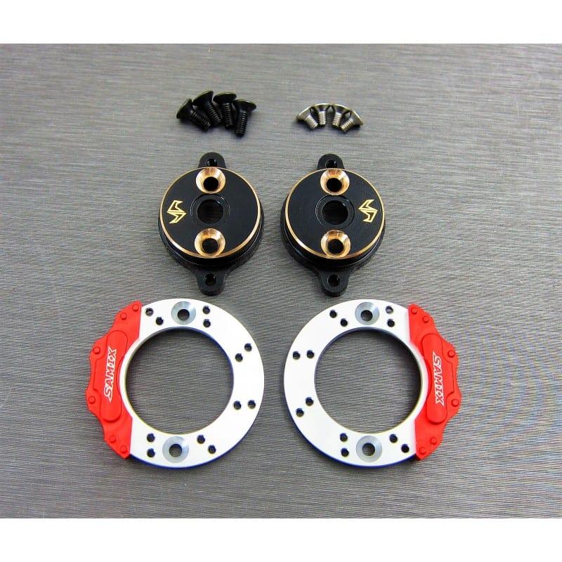 Enduro brass rear brake adapter (with scale brake rotor & caliper set)
