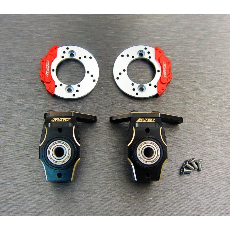 Enduro brass heavy knuckle full set (with scale brake rotor & caliper set)
