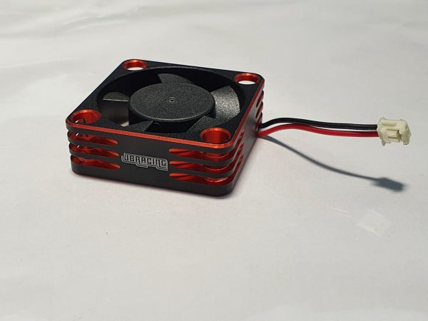 Aluminium 30×30 Fan for ESC with HW connector – RED