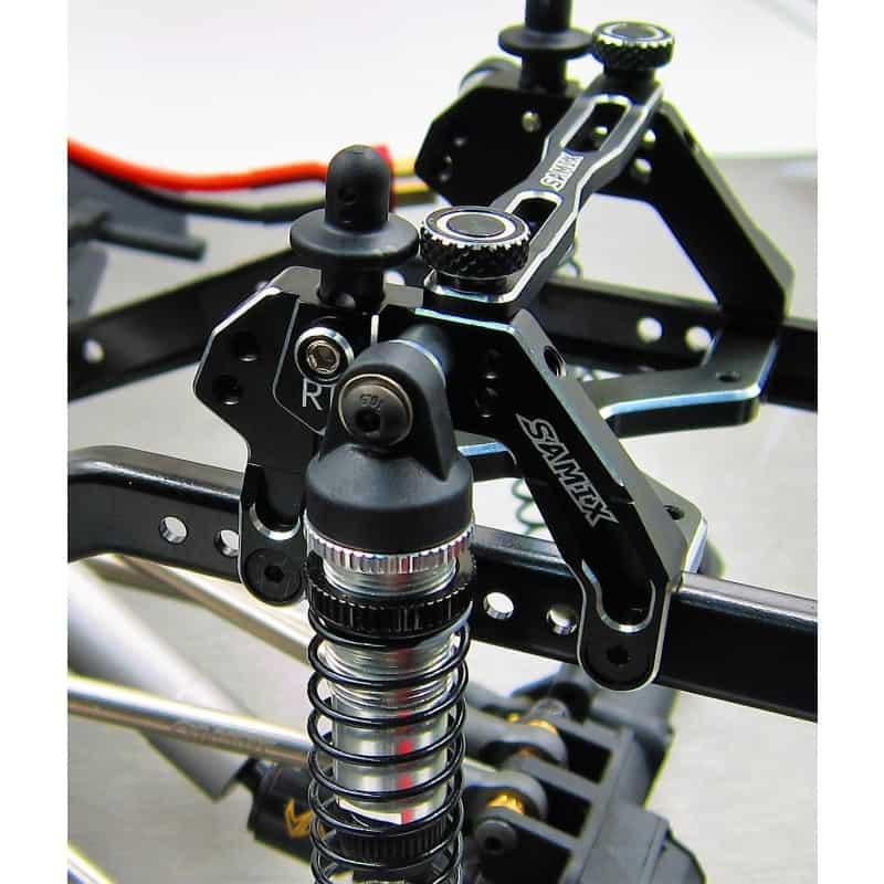 Enduro Alum. rear shock plate BLACK