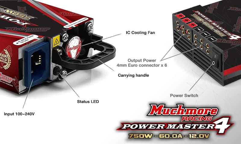 CTX-P Power Master4・12.6V 60A [750W] Black
