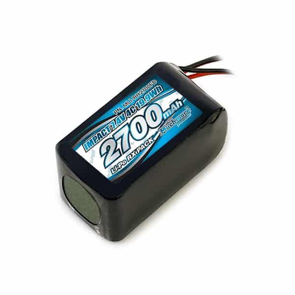 IMPACT Li-Po Battery 2700mAh/7.4V 4C Hmp Size for Receiver
