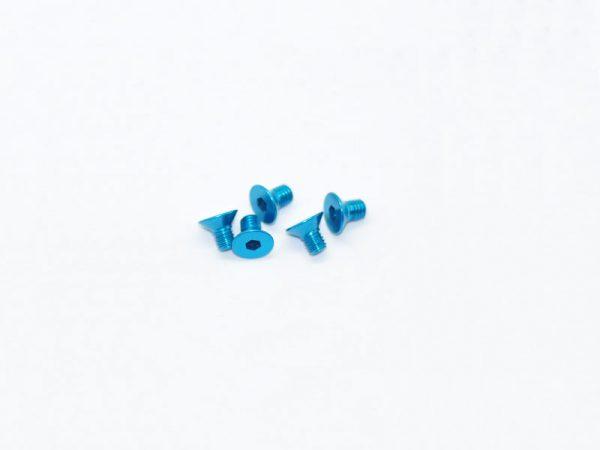 Alu Screw Allen Countersunk M3X5 Blue