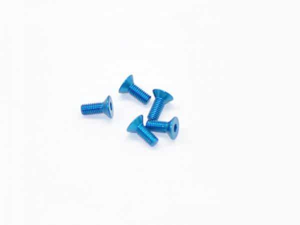 Alu Screw Allen Countersunk M3X8 Blue
