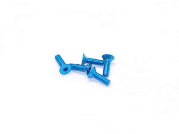 Alu Screw Allen Countersunk M3X10 Blue
