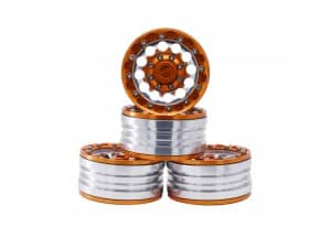 1.9″ Aluminum Beadlock Crawler Wheels 4pcs -Bright Orange