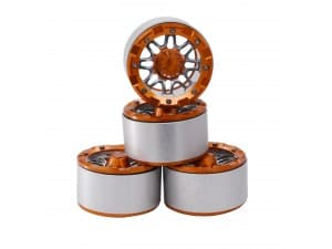 "2.2"" Aluminum Beadlock Crawler Wheels 4pcs – V Orange 4pcs/set"