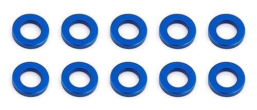 Ballstud Washers, 5.5×3.0x1.0 mm, blue aluminum