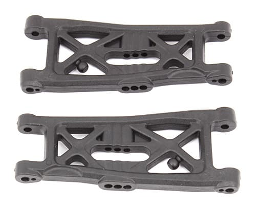 RC10B6 FT Front Suspension Arms, gull wing, carbon fiber