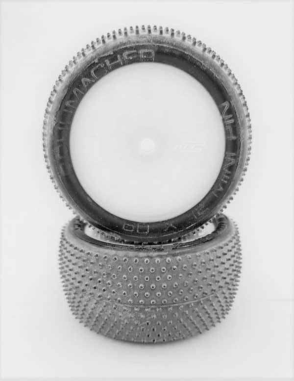 Pre Glued Yellow Mini Pin 2.2 on White JC Wheels – (pr)