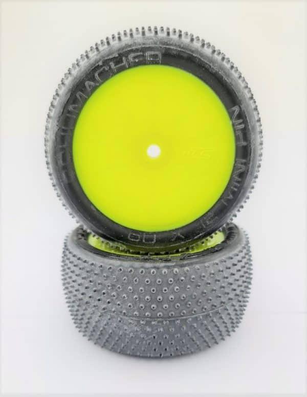 Pre Glued Yellow Mini Pin 2.2 on Yellow JC Wheels – (pr)