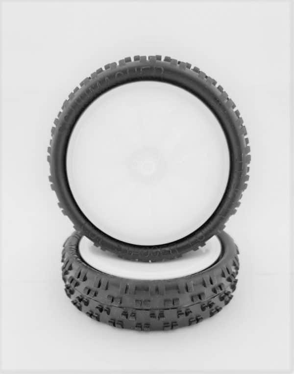 Pre Glued CUT STAGGER – LOW PROFILE on White JC Wheels – (pr)