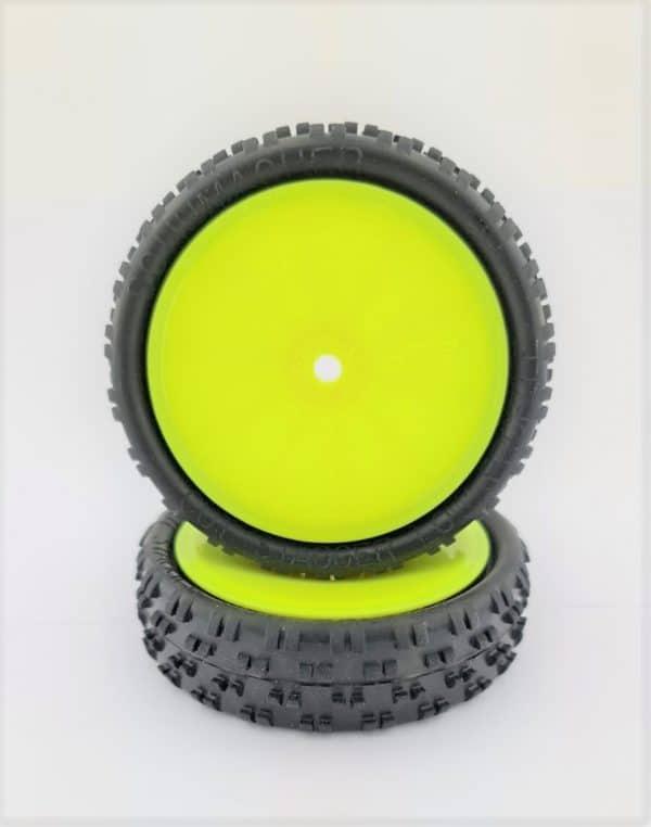 Pre Glued CUT STAGGER – LOW PROFILE on Yellow JC Wheels – (pr)