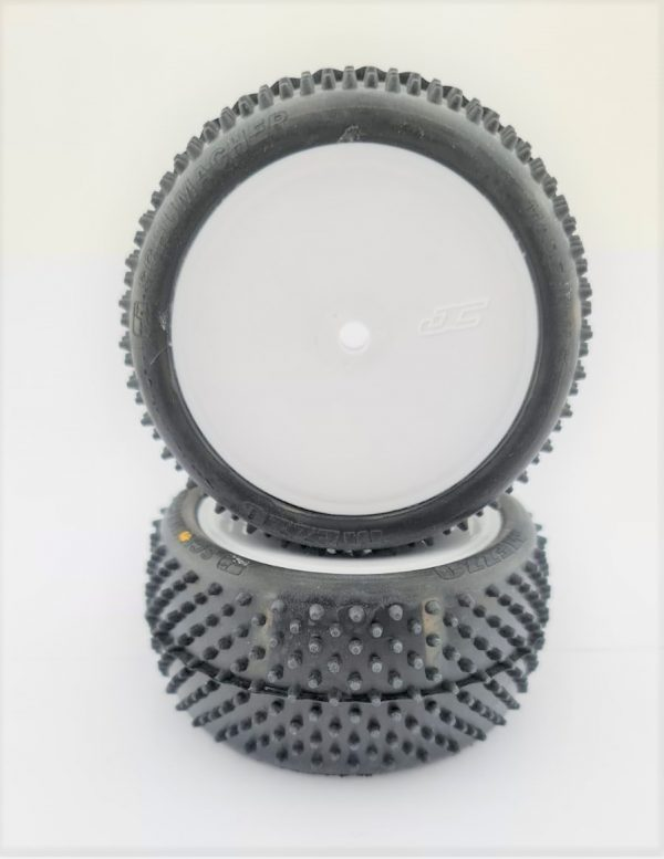 Pre Glued MEZZO 1/10 REAR on White JC Wheels – (pr)