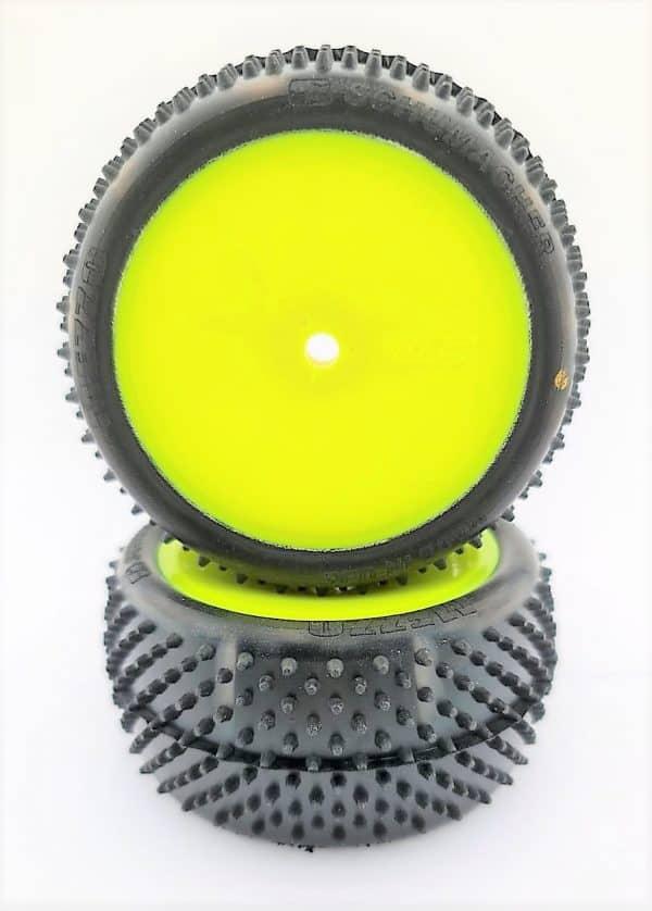 Pre Glued MEZZO 1/10 REAR on Yellow JC Wheels – (pr)