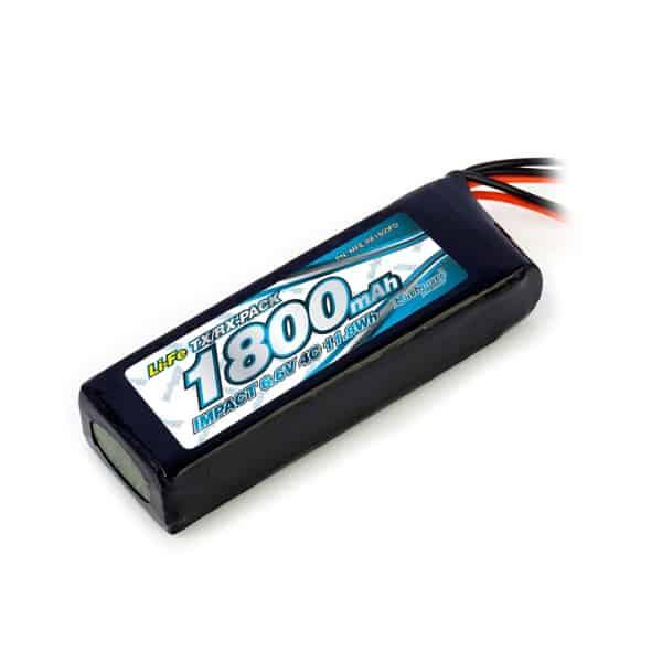IMPACT Li-Fe Battery 1800mAh/6.6V 4C Flat Size for Tx & Rx